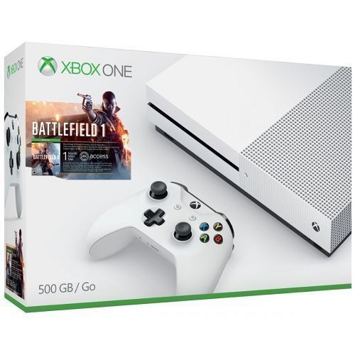 consola xbox one s 500gb  battlefield 1 + halo 5 nuevo msi