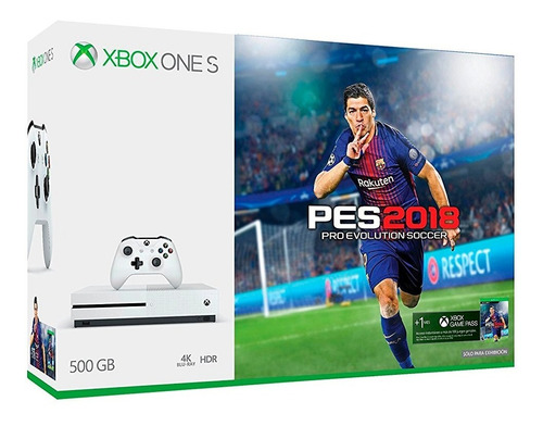 consola xbox one s 500gb pes 2018 fact a-b