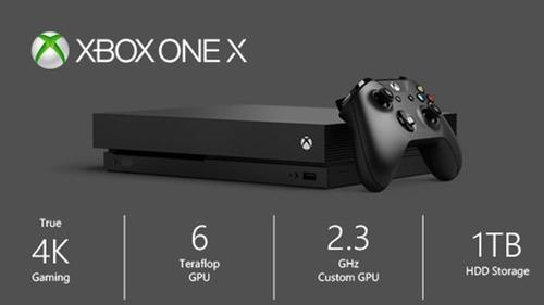 consola xbox one x de 1tb +juego + control . nueva sellada