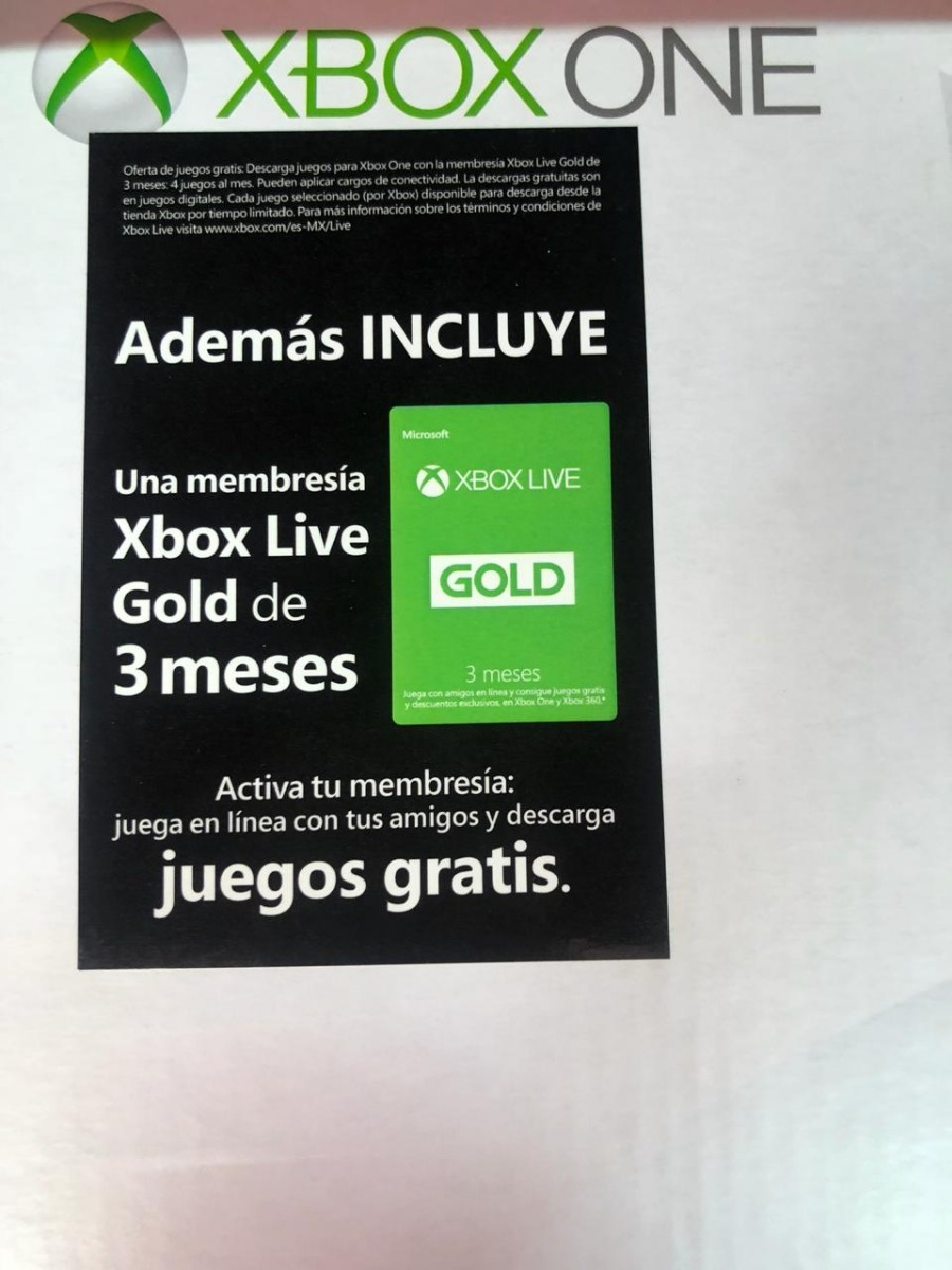 Remate Consola Xbox One 500 Gb Xbox Live Gold 3 Meses