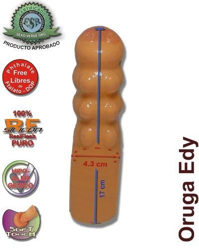 consolador dildo fantasía oruga piel clara 17*4.3 (765sv)