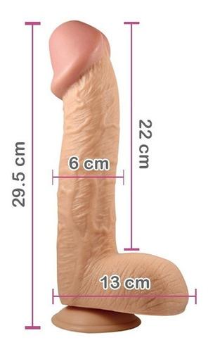 consolador extra grande 29.5cm dildo grueso venoso base 2207