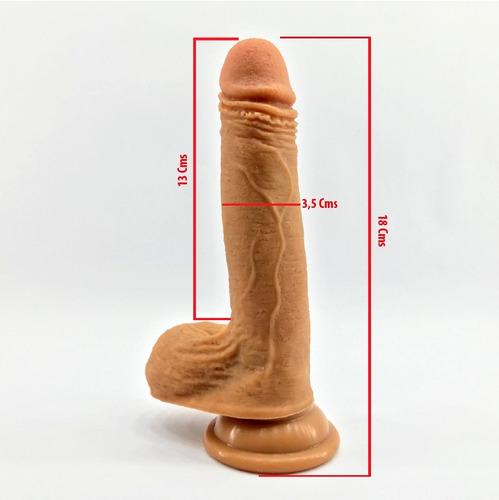 consolador pene realista textura natural talla  m 18cm