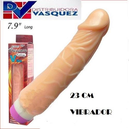 consolador vibrador portatil de 23 cm negro o piel oferta!