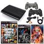 Playstation 3 Super Slim 500gb 2 Controles 3 Juegos Fisico.