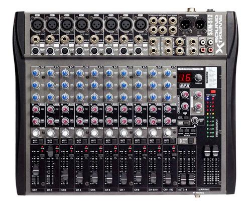 consolas mixer 12 canales 16 efec entrada micrófonos cuotas