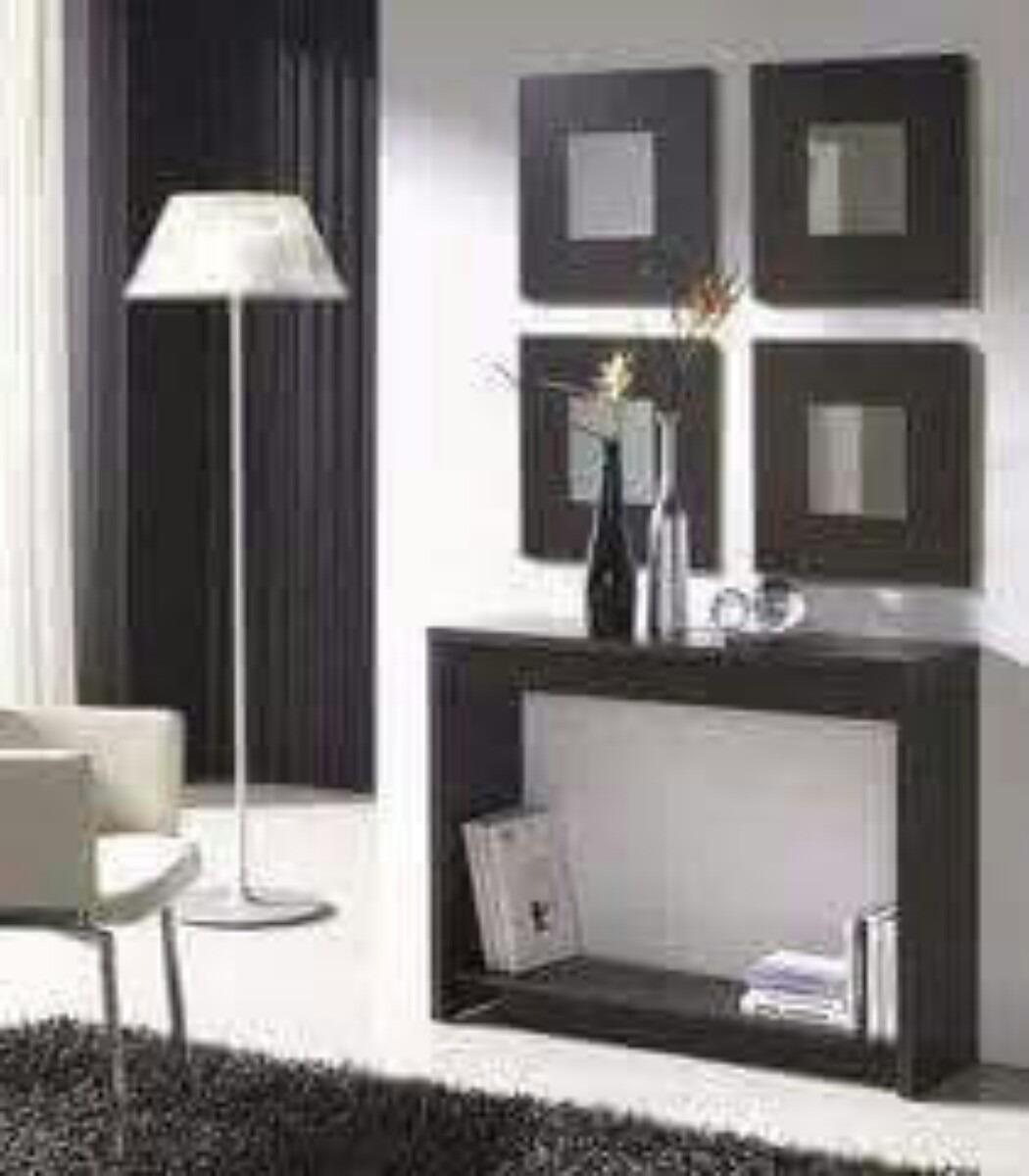 Consolas modernas y m nimalista con espejos mdf y formica bs en mercado libre - Consolas recibidor modernas ...