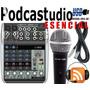 Behringer Podcastudio Esencial Mezcladora Q802 + Micro Nuevo