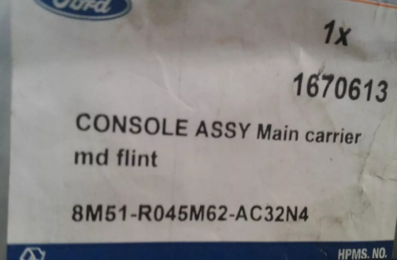 Genuine Ford Console 1670613