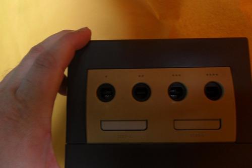 console game cube azul completo destravado funcionando 100%