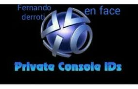 Console Id Privada Para Desbanear Ps3 Y Volver Al Online!!!