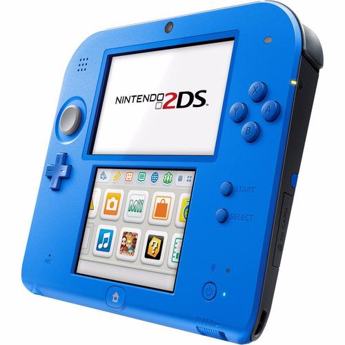 console nintendo azul 2ds com mario kart 7 original - oferta