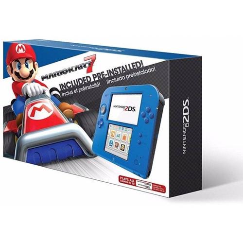 console nintendo azul edição limitada 2ds com mario kart 7