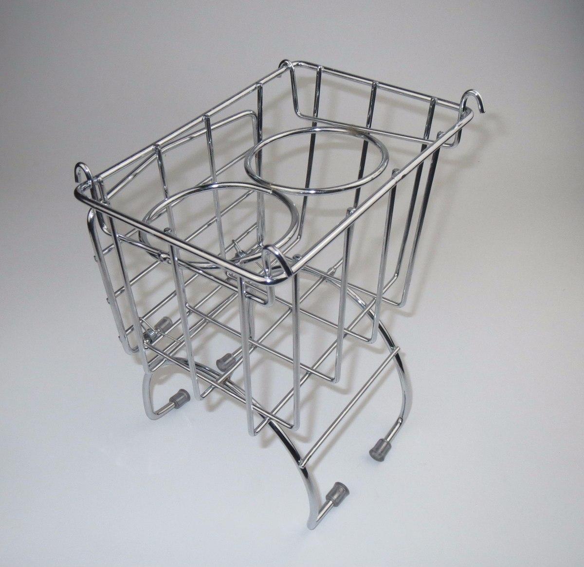 Console porta copos treco cesto cestinha metal cromado for Metal cromado