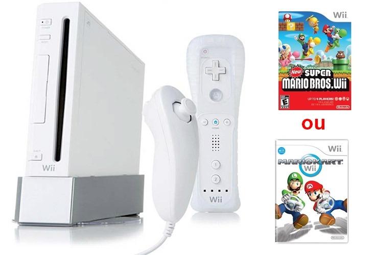 Console Wii (desbloqueado) + Jogo, Wii Remote E Nunchuck. - R$ 600 on
