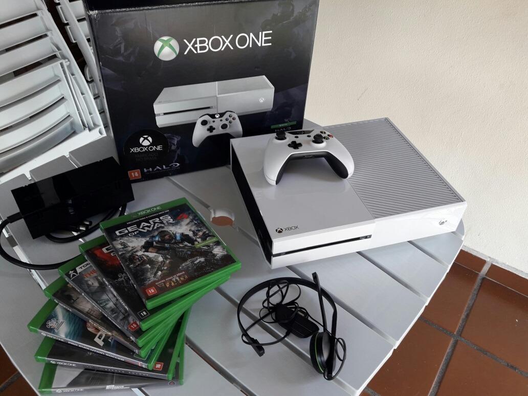 Console Xbox One Master Chief Collection Branco Jogos