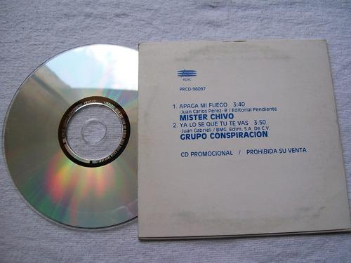 conspiracion - mister chivo. cd promo sony