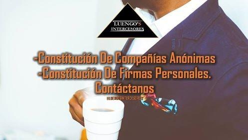 constitución de compañías anónimas y firmas personales