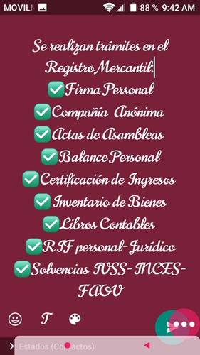constitución de empresas, registro mercantil, redacciones...