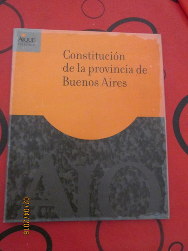 constitucion de la provincia de buenos aires escolar