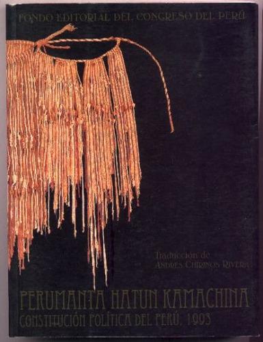 constitución política del perú. 1993. ed. bilingüe (quechua)