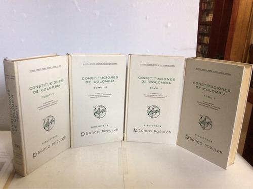constituciones de colombia 4 tms manuel  pombo y jose guerra