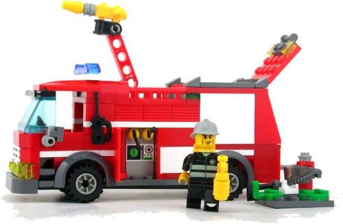 construcción bomberos juguetes