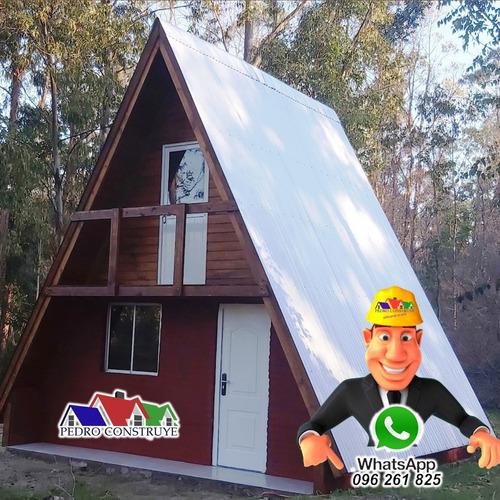 construccion casas cabaña