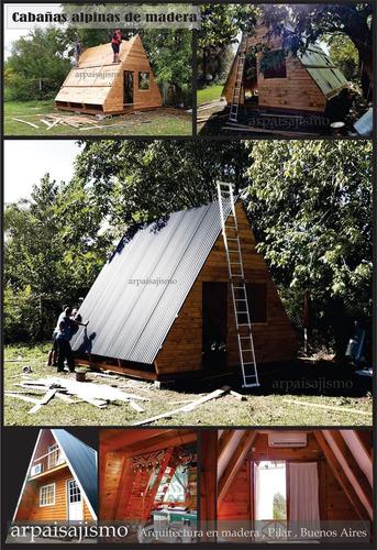 construcción de cabañas alpinas containers de madera premium