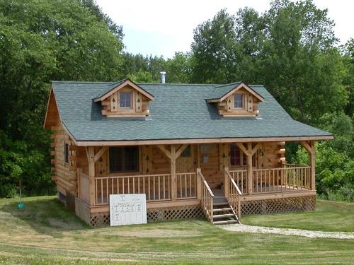 construcción de cabañas de madera