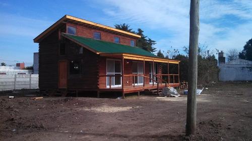 construccion de cabañas de tronco y quebracho artesanales