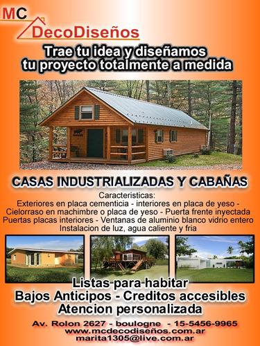 construccion de cabañas, minimalistas e industrializadas