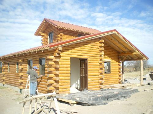 construcción de cabañas premium troncos eucalipto