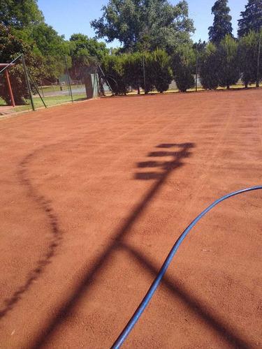 construccion de canchas de tenis polvo de ladrillo.