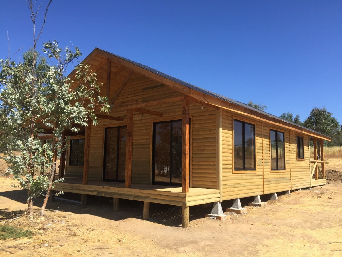 construcción de casa en terreno modelo huallerehue 105 m²