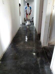 construcción de cemento y concreto pulido