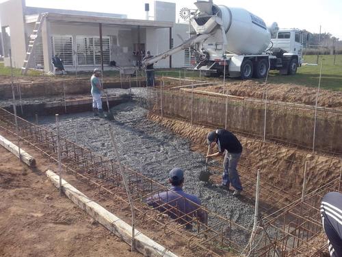 construcción de piletas de hormigón