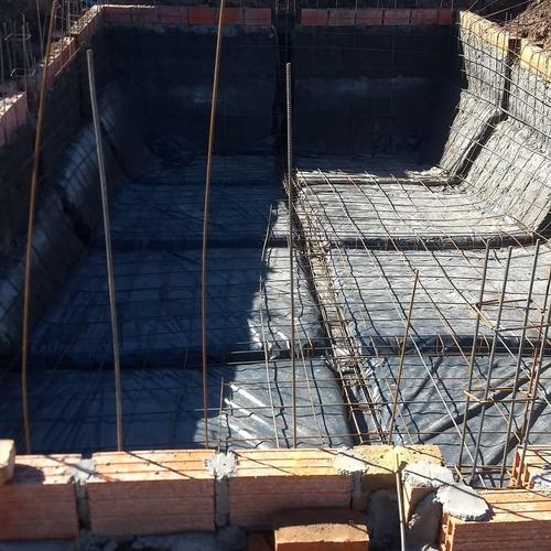 construcción de piletas (zona sur)