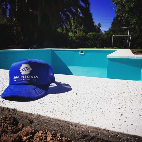 construcción de piscinas de hormigón 7 x 3 + 2 luces led