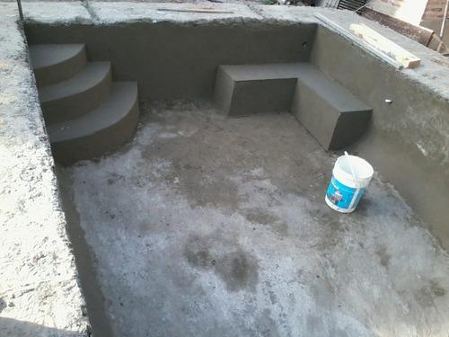 construccion de piscinas de hormigon 8x4 $210terminada