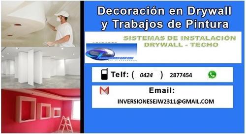 construcción en drywall, herrería y servicios generales