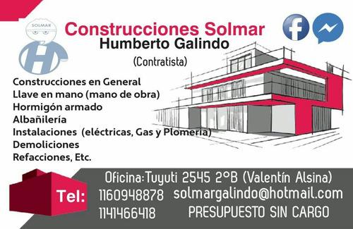 construccion llave en mano (mano de obra) $16.000 el m2