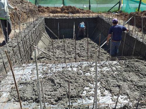 construcción piscinas hormigón poyectado financión propia