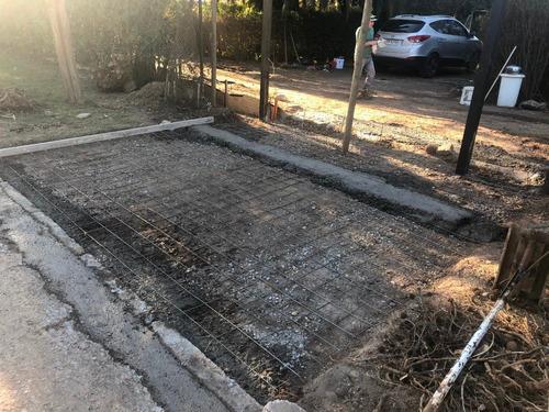 construcción radier, hormigonado suelo