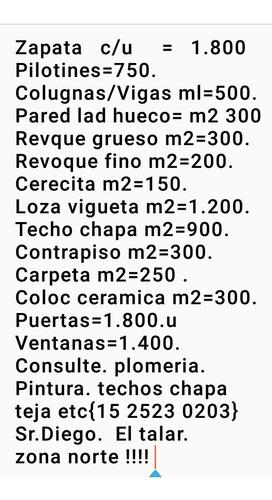 construcción refacciones en gral { 15 2523 0203 }.