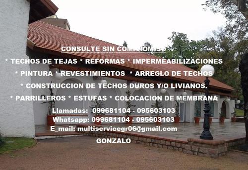 construcción reformas techos en todo el país