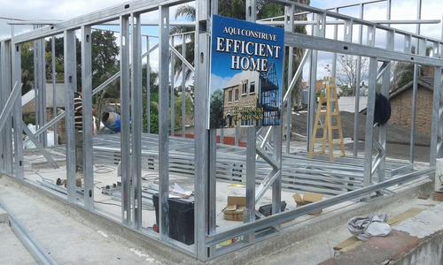 construccion steel framing, viviendas, casas steel frame m2