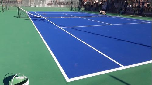 construcción y reparación de canchas de tenis y superficies