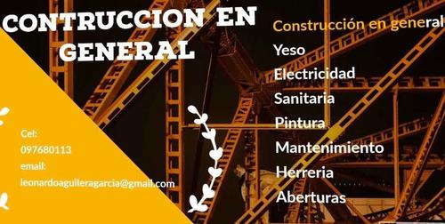 construcción , yeso, electricidad, pintura, sanitaria