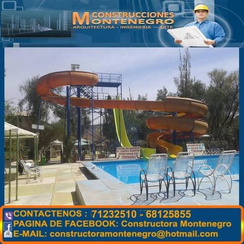 construcciones de parques acuáticos